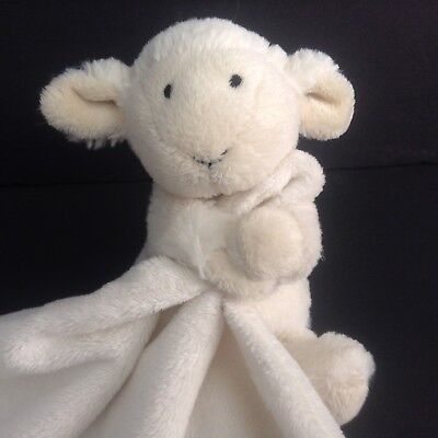 Little Jellycat  White Lamb Security Blanket Lovey