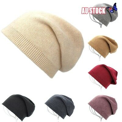 Quality Cashmere Knitted Beanie Hat Mens Women Unisex Winter Warm Skiing Cap
