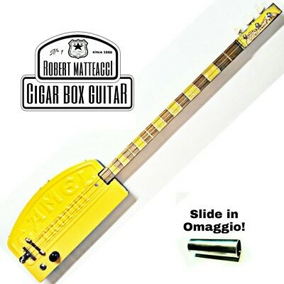 Camel Trophy Cigar Box Guitar 3 corde, pick-up piezoelettrico, tasti medium.