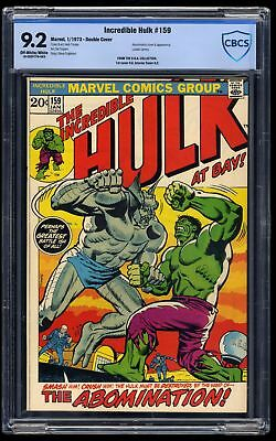Incredible Hulk #159 CBCS NM- 9.2 Off White to White Double Cover!