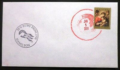 mv Ruby Princess . Cruise Line . Stamped On Board Ship Postal Cover Boat Vessel