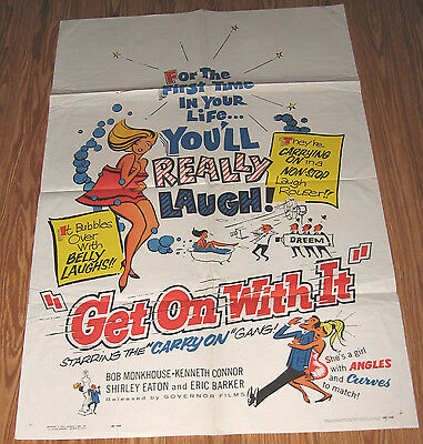 GET ON WITH IT Original MOVIE POSTER 1963 SHIRLEY EATON