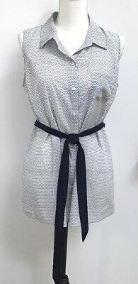 A Pea In The Pod Maternity Redefined Buttons Down Short Size MEDIUM White Tunic