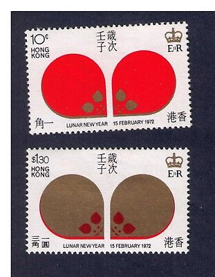 Hong Kong 1972 new year of rat  MH very fresh condition