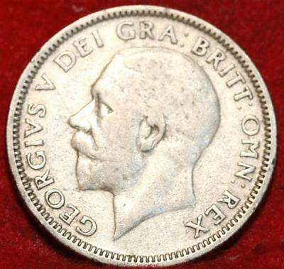 1929 Great Britain Shilling Silver Foreign Coin