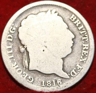 1816 Great Britain Shilling Silver Foreign Coin