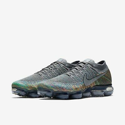 b860fb3945a New Nike Air VaporMax Flyknit Dark Grey Silver Multi-Color size 11 849558  019