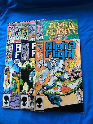 Alpha Flight Lot Of 18. #3-39,106,117. Marvel Comics 1983 John Byrne Vg//vf Sale