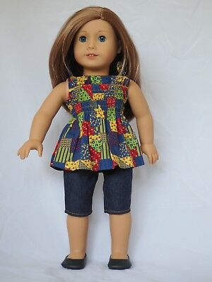 American Girl Julie's Patchwork top  - Brand New