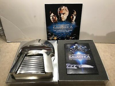 BATTLESTAR GALACTICA The Complete Epic Series DVD Collector's Box Set with book
