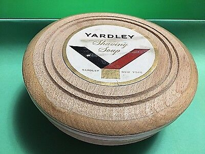 Vintage Yardley Shaving Soap In Wooden Container