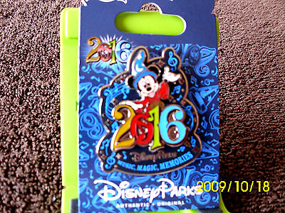 Disney Parks * 2016 Dated - Sorcerer Mickey * New on Card Trading Pin