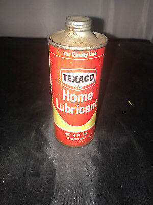 Vintage can Texaco Home Lubricant unopened 1-16-2018