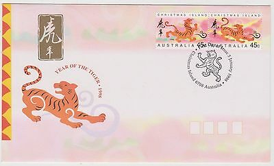 Christmas Island 1998 Year of the Tiger FDC