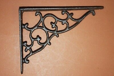 (2) Old Fashion Cast Iron Shelf Brackets Antique-look Cast Iron 7 1/8 inch, B-1