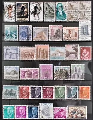 Selection of Used Stamps from Spain - see photo (17)