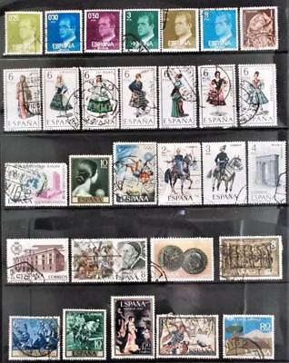 Selection of Used Stamps from Spain - see photo (16)
