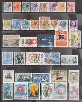 Selection of Used Stamps from Italy - see photo