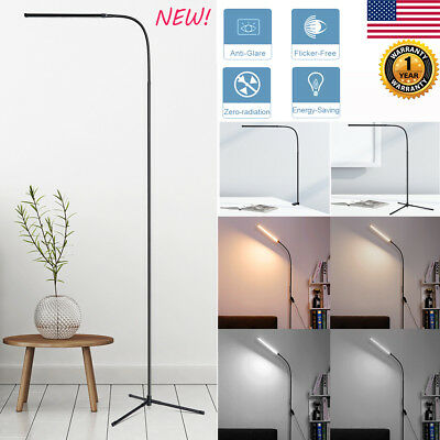 3in1 Adjustable Slim LED Floor Lamp Standing Light Reading Gooseneck Home Office