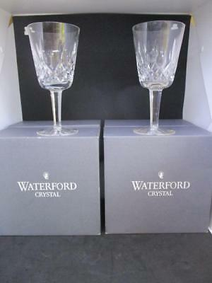 x10 WATERFORD CRYSTAL LISMORE 10oz GOBLET GLASSES RED WINE BOXED
