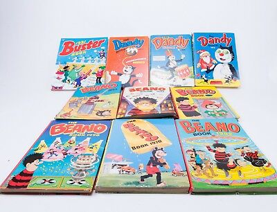 Vintage Annuals/Book: 6x Beano 1970, 1989 & 90s, 3x Dandy 1972-1974  Buster 1991