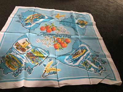 Vintage/Retro Tasmania Tablecloth /Supper Cloth -  As New - Great Graphics