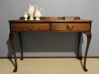 VINTAGE QUEEN ANNE FRENCH PROVINCIAL LADIES WRITING DESK HALL CONSOLE TABLE 40s