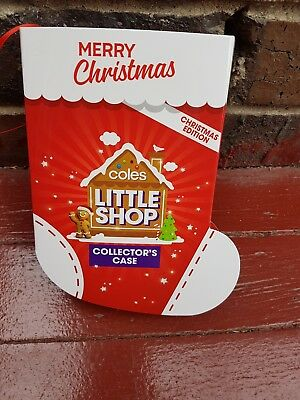 Coles Little Shop Limited Edition Christmas Collectors Case Only - New & Sealed!