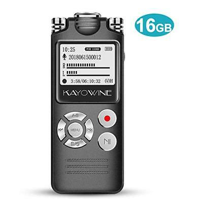 Digital Voice Recorder KAYOWINE 16GB Professional Noise Reduction HD OLED Screen