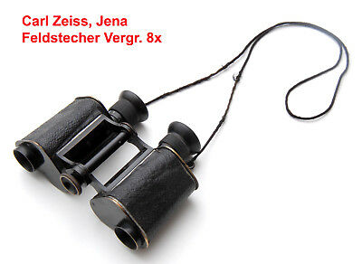 Fernglas Carl Zeiss Jena Feldstecher Vergr. 8x,army binocular,field glasses,ww1