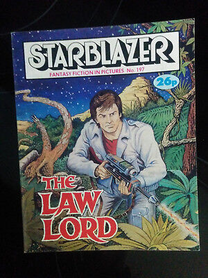 """Starblazer #197 """"THE LAW LORD"""" published by DC Thomson"""