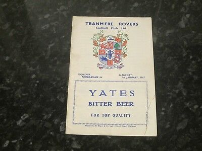 Tranmere Rovers v Chelsea FA Cup 3rd Rd - Dated 1962/63