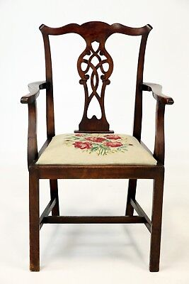 Antique Mahogany Elbow Chair Nationwide Delivery Available
