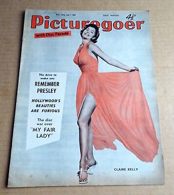 PICTUREGOER MAGAZINE 7th JUNE 1958  CLAIRE KELLY COVER + REMEMBER PRESLEY