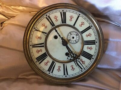 Vienna clock movement and dial 8 inch c1890