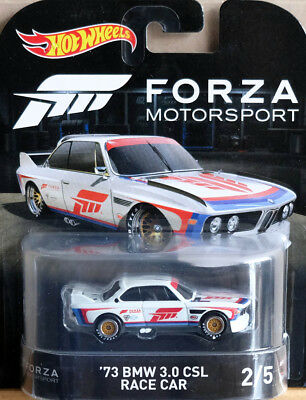 1973 BMW 3.0 CSL Race Car Forza Retro Entertainment XBOX 1:64 Hot Wheels DWJ95