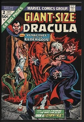 Giant Size Dracula #2  From 1974 Lovely Vf/nm Copy Great Art White Pages