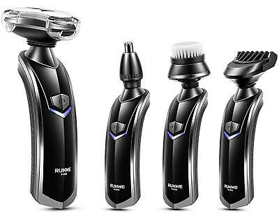 Electric Razor Shaver for mens Wet Dry Waterproof Cordless Rechargeable Rotary