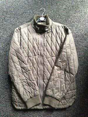 mens quilted jacket Olive Green Small Not Barbour