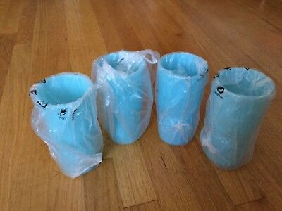 Tupperware vintage tumblers Teal Blue Color 16 oz. Stackable New Old Stock