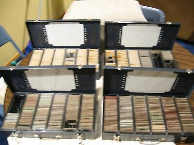 Vintage Mico Slide Tray Chest with 4 Metal Trays and Slide Collection