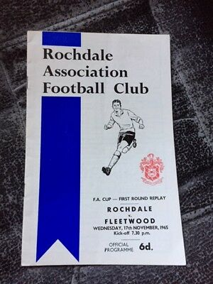 Rochdale V Fleetwood Fa Cup First Round Replay 1965-66