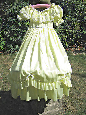 Vintage Bridesmaids Dress Yellow Bo Peep Hoop 5 6 Years 116 Cm Flower Girl