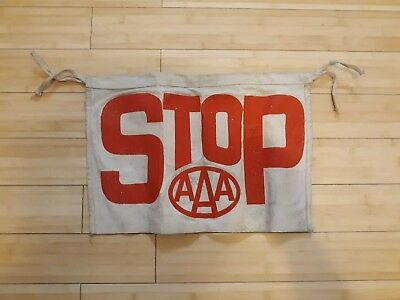 Vintage Aaa Safety Patrol Canvas Stop Sign