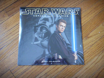 STAR WARS 2003 Calendar HEROES AND VILLAINS (pristine) Attack of the Clones
