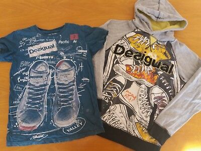 Boys Desigual bundle t-shirt & jumper 11-12yrs