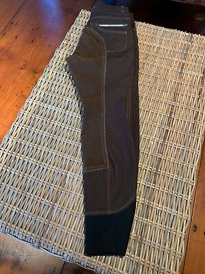 USG Full Seat Breeches size 26 R New Brown with Zipper pockets details