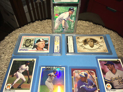 3 GRADED 4 mint cards  7  lot junk drawer find 3 graded  Ripkin Carlton Weaver