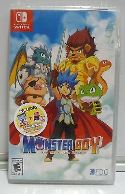 Monster Boy And The Cursed Kingdom  Nintendo Switch Bonus Edition Region Free