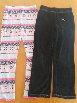 1 BNWT unicorn fleece leggings & black velour joggers 9-10yrs